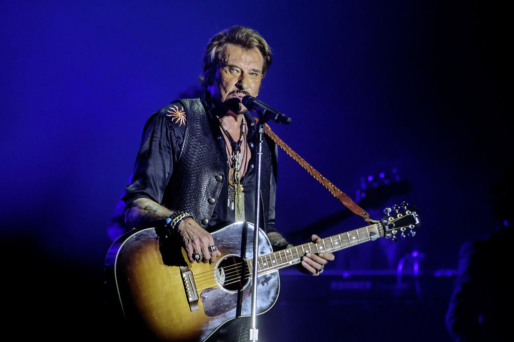 Johnny Hallyday at the Big Festival in Biarritz